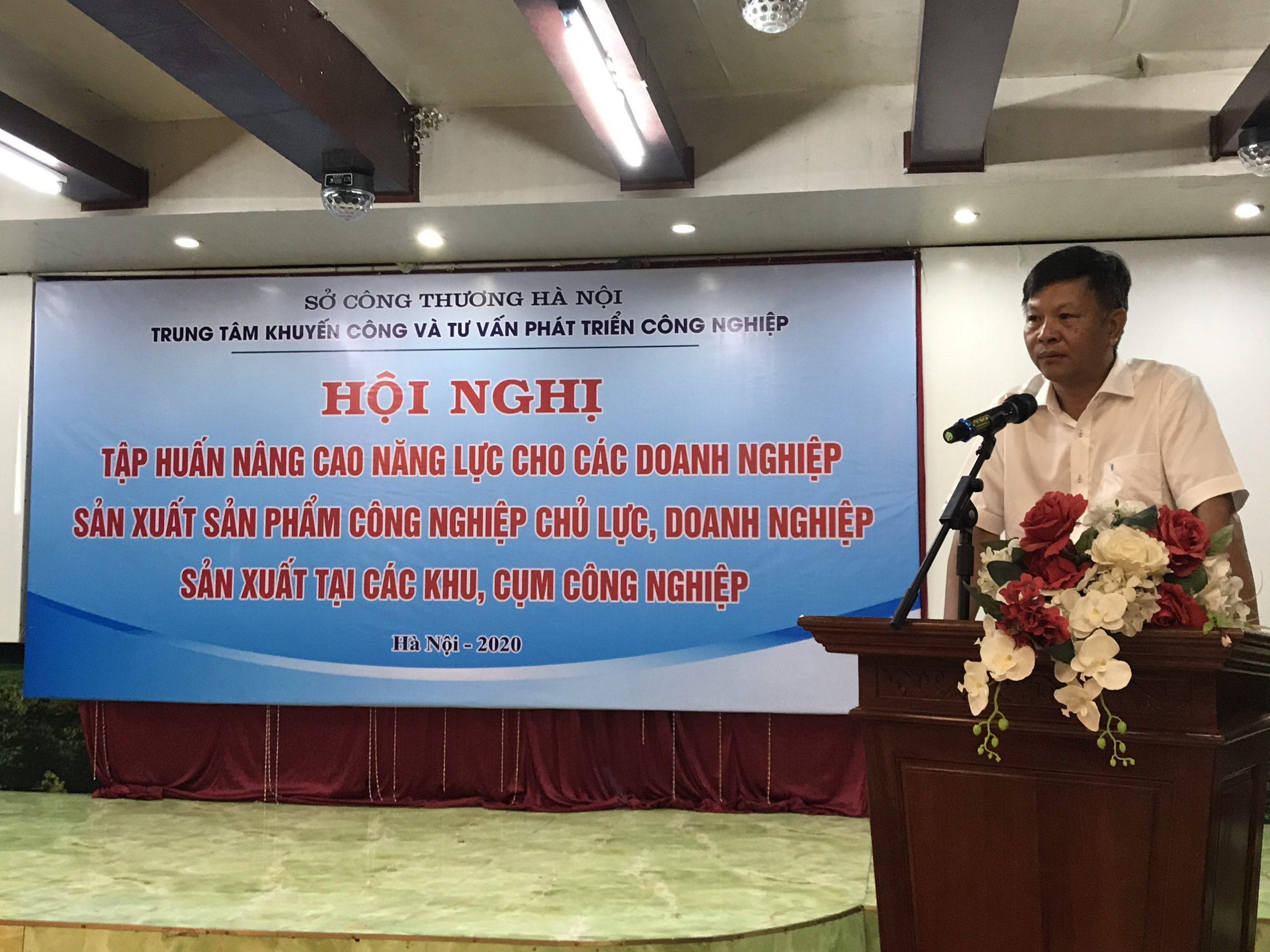 (Tiếng Việt) Tập huấn hỗ trợ, đào tạo nâng cao năng lực cho các doanh nghiệp sản xuất SPCNCL thành phố Hà Nội năm 2020